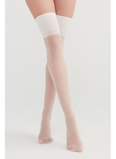 Penti Kadın Ten Rengi Nostalji Çorap PCDPNSTJ19SK Beyaz